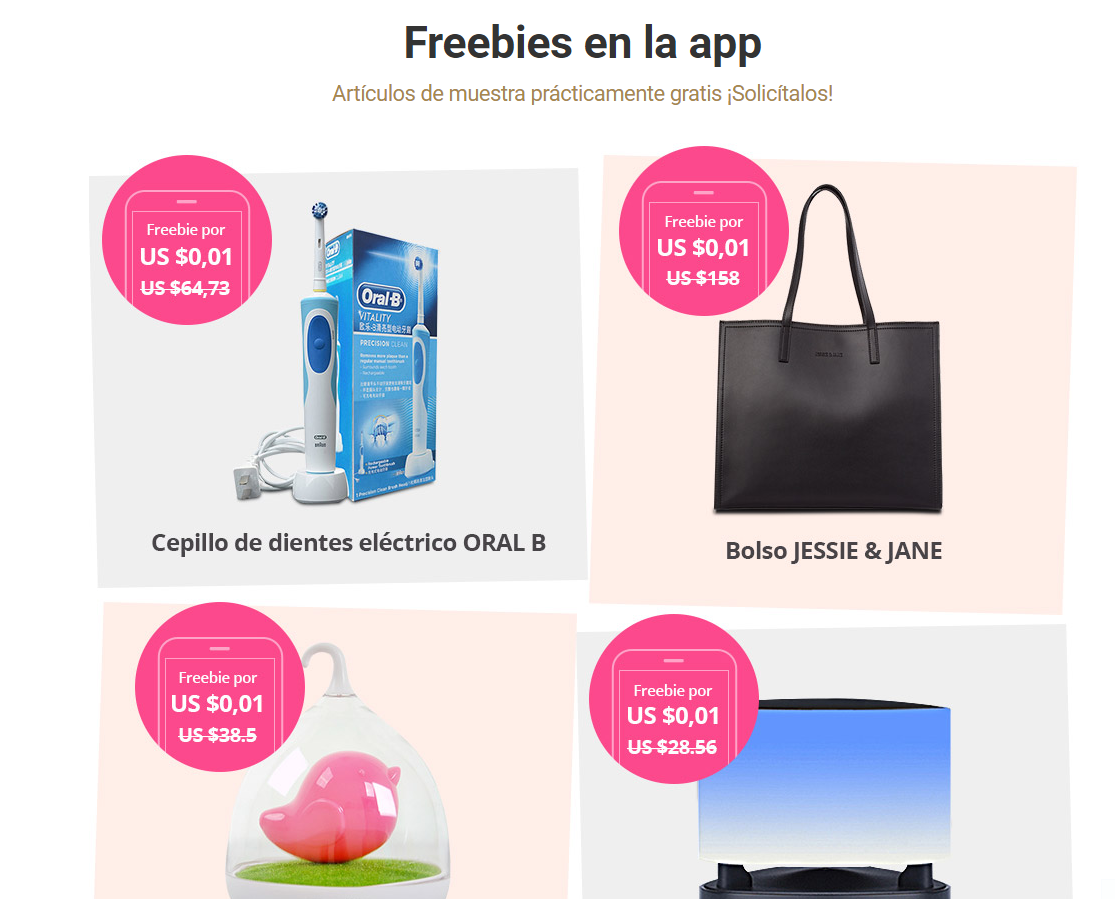 Freebies en la app