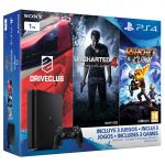PS4 1Tera + Uncharted 4 + DriveClub + Ratchet&Clank por 349€