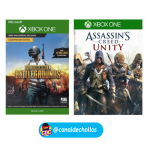 PlayerUnknown's Battlegrounds + Assassin's Creed xBox solo 16€